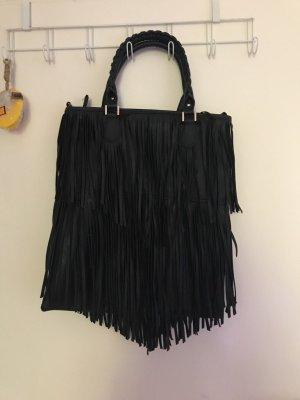 Schwarze Fransen Tasche