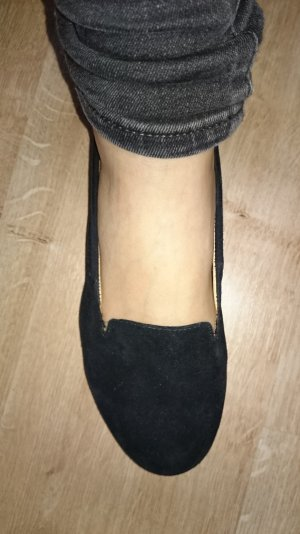 Schwarze Garbor Slipper