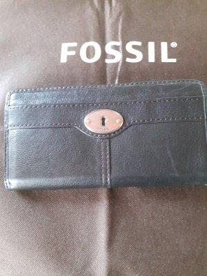 Fossil Portafogli nero-grigio chiaro Pelle