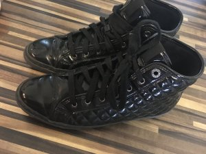 schwarze Geox Lacksneaker High Top