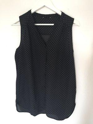 schwarze gepunktete Bluse