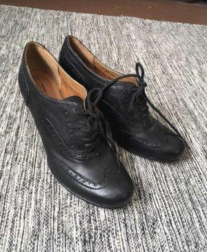 Schwarze, geschlossene hohe Schuhe , Gr. 39 ECHTLEDER