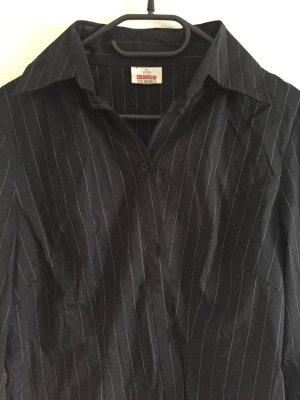 Schwarze gestreifte Bluse von Takko in Größe M