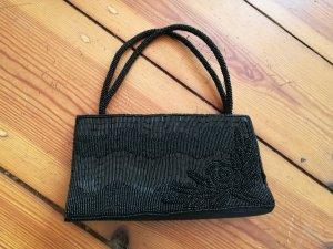 Schwarze glänzende Clutch Abendtasche minitasche