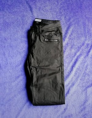 17&co Leather Trousers black
