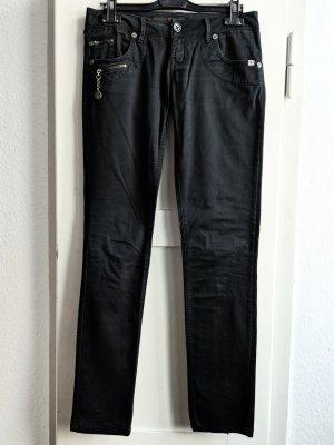 Schwarze, glänzende Hose von Freeman T. Porter