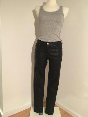 Schwarze glänzende Jeans von Hallhuber! Ungetragen!