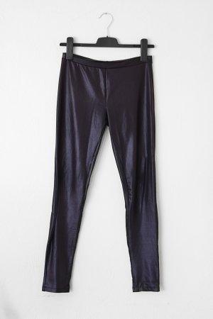 schwarze glänzende Leggings