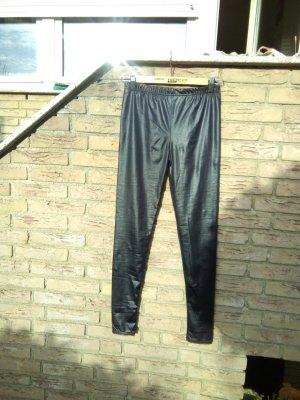 Schwarze Glanz-leggings