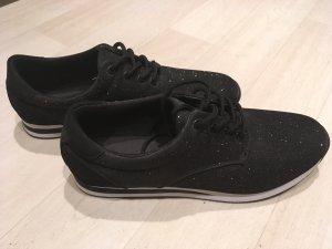 Schwarze Glitzer Schuhe *NEU*