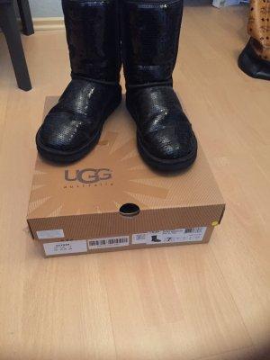 schwarze Glitzer Uggs