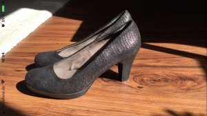 Tamaris Plateauzool pumps zwart