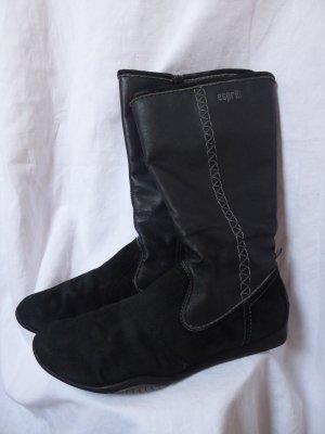 Schwarze-graue Stiefel von Esprit