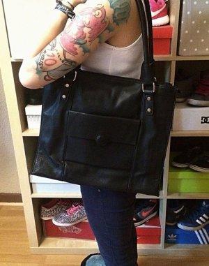 Schwarze große Büro Tasche/ Handtasche