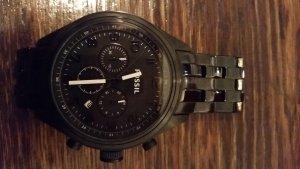 schwarze, große Uhr (nur 2x getragen)