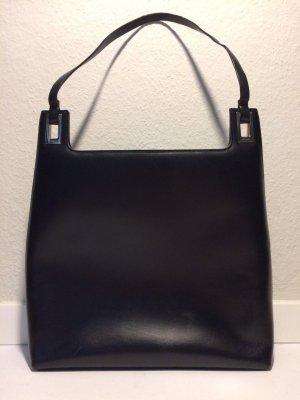 Gucci Handbag black-silver-colored leather
