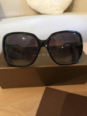 Schwarze Gucci Sonnenbrille