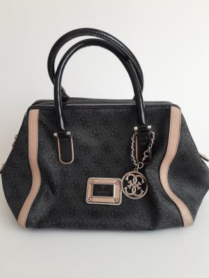 Guess Bolso barrel negro-nude Material sintético