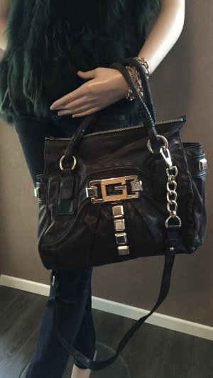Schwarze Guess Handtasche mit Schulterriemen, limitiert