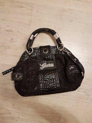 Schwarze Guess Handtasche mit Spitze