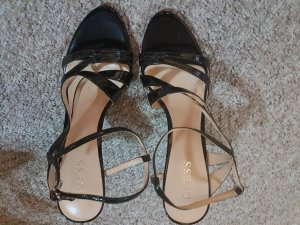 Guess Strapped High-Heeled Sandals black leather
