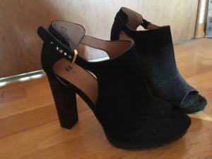 Schwarze H&M High Heels in Wildlederoptik, nie getragen!