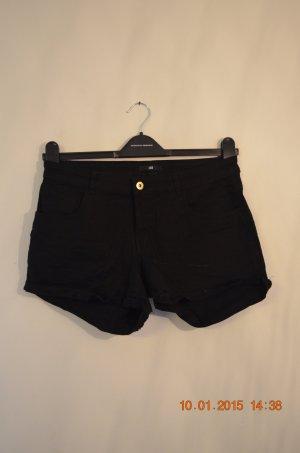 schwarze H&M Hotpants