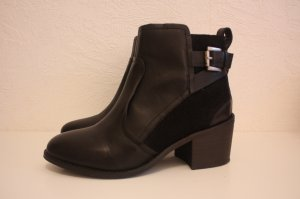 schwarze H&M Stiefeletten Ankle Boots aus Echtleder