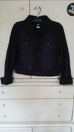 Schwarze halblange Jeansjacke - Neu!