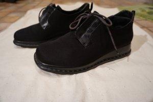 Aigner Lace Shoes black textile fiber