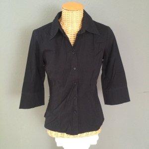 schwarze Hallhuber Bluse mit 3/4 Arm