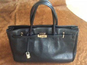 Peek & Cloppenburg Carry Bag black-gold-colored leather
