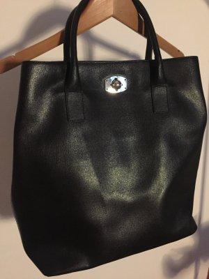 Schwarze Handtasche Furla Saiffanoleder