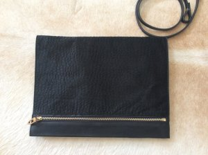 Zara Handbag black-gold-colored leather