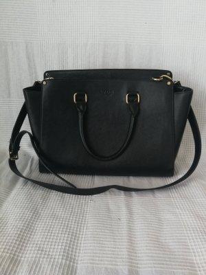 Schwarze Handtasche (mit Schulterriemen)