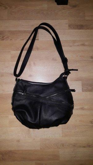 Schwarze Handtasche (mittelgroß)