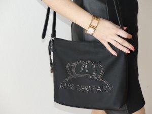 Handbag black imitation leather