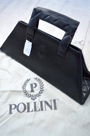 Schwarze Handtasche Pollini Echtleder