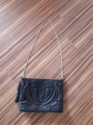 Schwarze Handtasche Umhängetasche Damen H&M Musterung