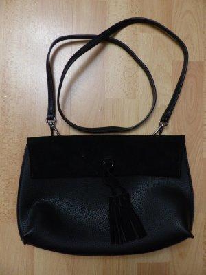 schwarze Handtasche / Umhängetasche von Street Level - wie neu