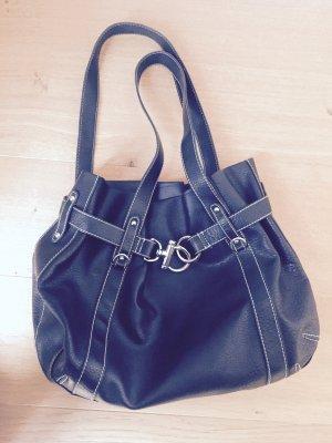 Schwarze Handtasche von Hallhuber - wie neu