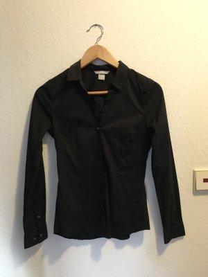 H&M Camisa de manga larga negro