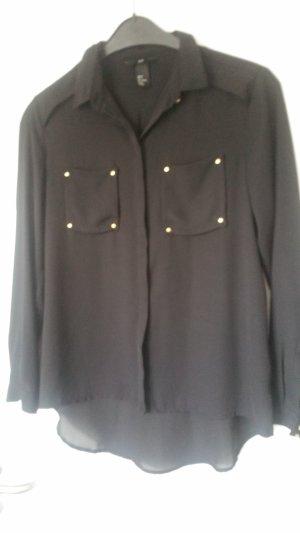 Schwarze Hemdbluse von H&M Größe 36