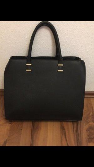 Schwarze Henkel Tasche H&M