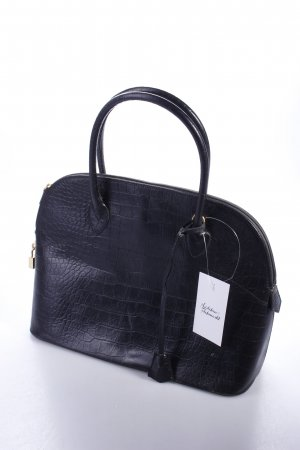 Black Barrel Bag croco design