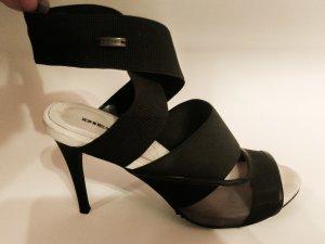 Schwarze High Heel Sandalen mit weissem Fussbett von DIESEL
