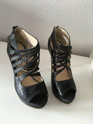 Schwarze High Heel Sandalette