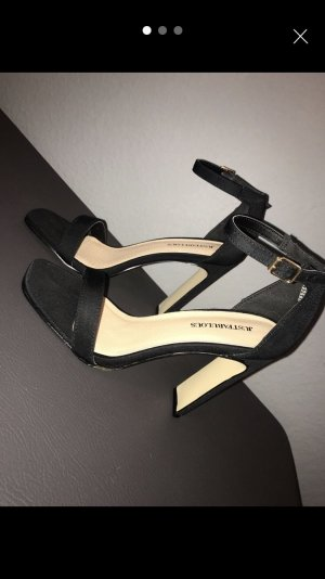 Just Fab Strapped High-Heeled Sandals black