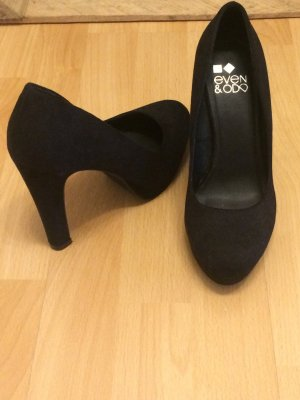 Schwarze High Heels, Größe 38