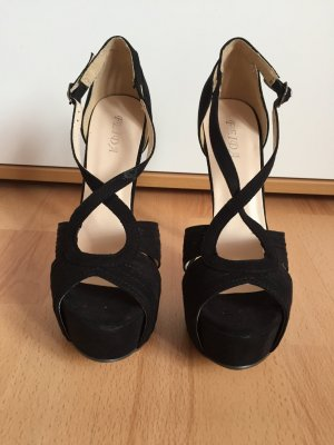 Feida Platform High-Heeled Sandal black